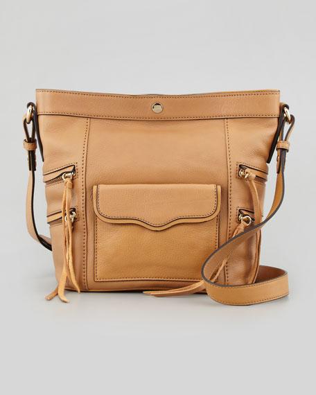 Dexter Leather Bucket Bag, Tawny
