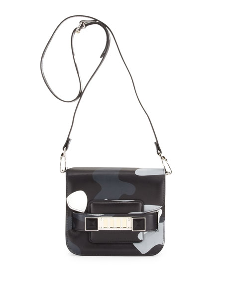 PS11 Tiny Crossbody Bag, Black Camo