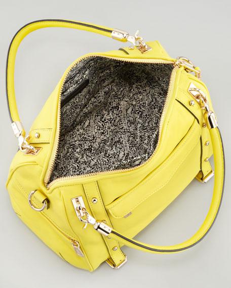 Cupid Studded Satchel Bag, Chartreuse