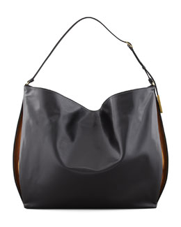 Stella McCartney Faux-Napa Big Shoulder Bag, Black