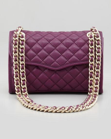 Quilted Affair Mini Shoulder Bag, Plum