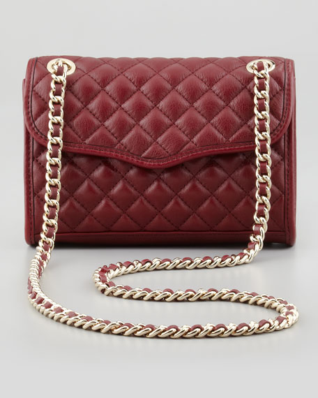Quilted Affair Mini Shoulder Bag, Port