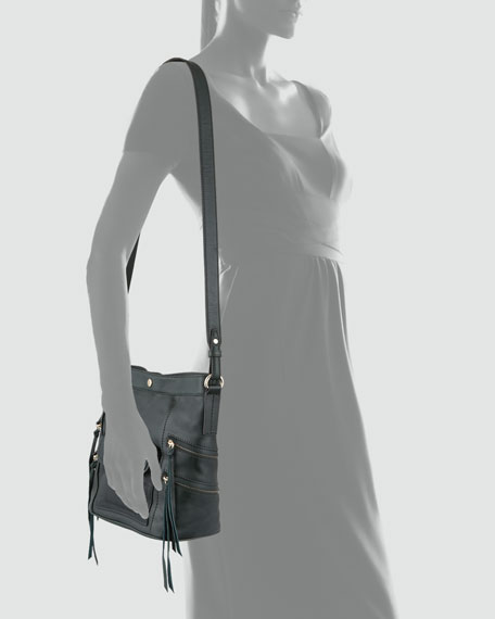 Dexter Leather Bucket Bag, Hunter