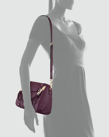 Cupid Mini Satchel Bag, Plum