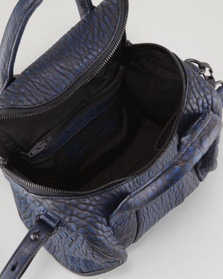 Rockie Small Crossbody Satchel Bag, Navy/Black
