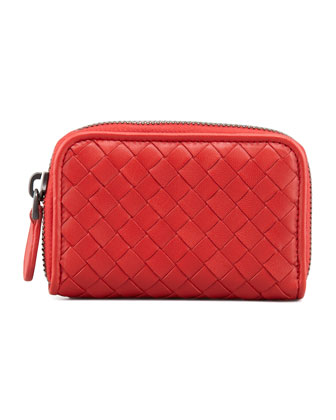 Mini Zip-Around Wallet, Scarlet