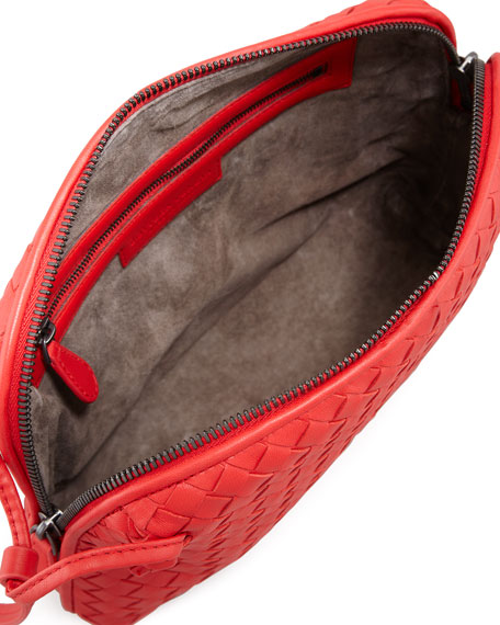 Veneta Small Crossbody Bag, Scarlet