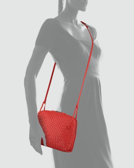 Veneta Small Crossbody Bag, Scarlet