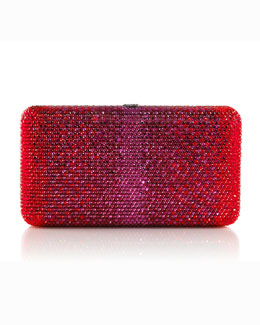 Judith Leiber Couture Airstream Large Ombre Minaudiere, Ruby-Hue Multi