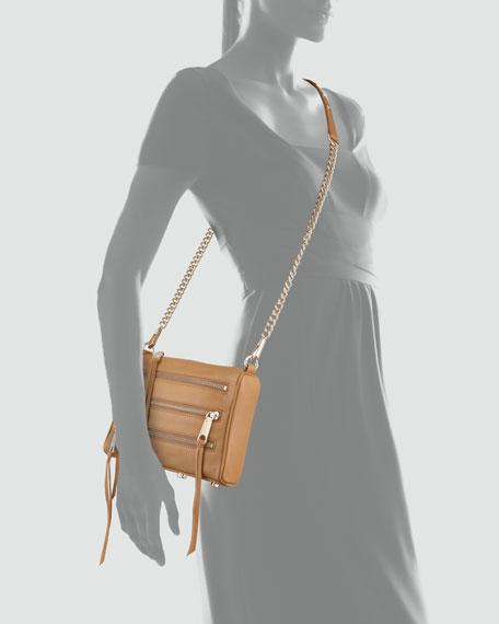Five-Zip Mini Crossbody Bag, Tawny