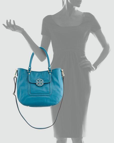 Amanda Double-Handle Hobo Bag, Electric Eel