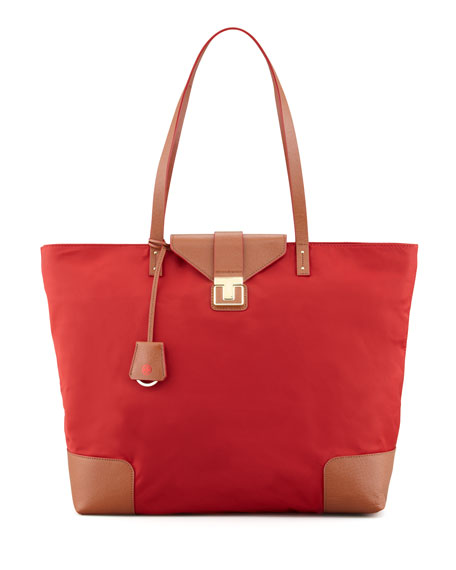 Penn Flap-Lock Nylon Tote Bag, Cinnamon