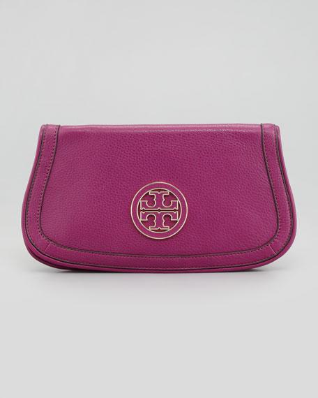 Amanda Logo Clutch Bag, Fuchsia
