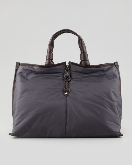 Amelie Nylon Tote Bag, Slate