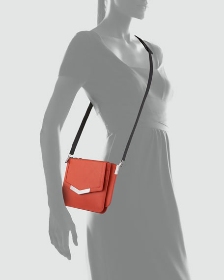 Mini Trilogy Leather Crossbody Bag, Paprika