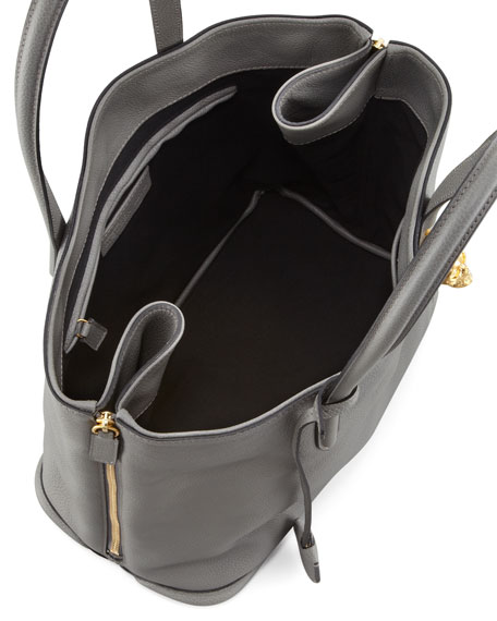 New Padlock Small Shopper Bag, Dark Gray