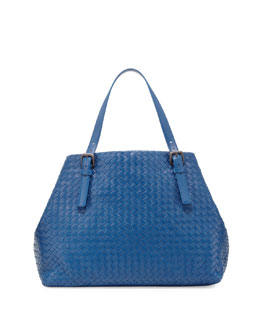 Bottega Veneta Large Double-Strap A-Shape Tote Bag, Royal Blue