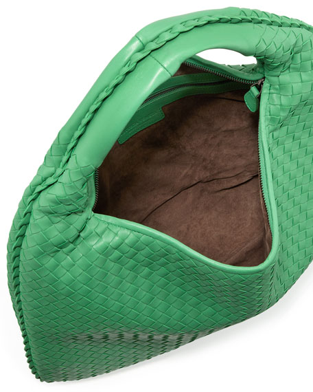 Woven Hobo Bag, Mint Green