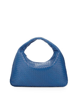 Bottega Veneta Large Lambskin Sac Hobo Bag, Royal Blue