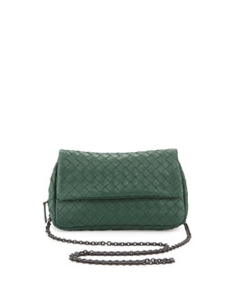 Bottega Veneta Woven Mini Crossbody Bag, Jade
