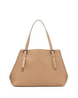 Bottega Veneta Medium Double-Strap A-Shape Tote Bag, Walnut Taupe