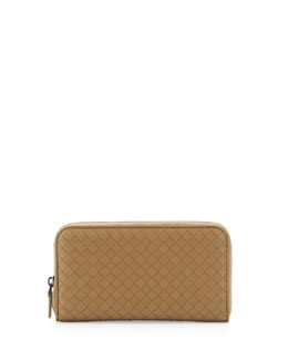 Bottega Veneta Zip-Around Organizer Wallet, Walnut Taupe