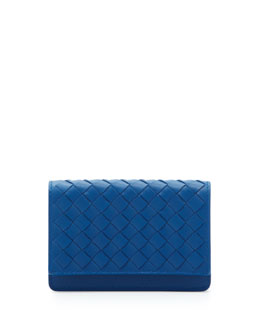 Bottega Veneta 5/6 Credit Card Flip Case, Electriq Royal