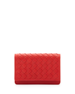 Bottega Veneta 5/6 Credit Card Flip Case, New Bright Red