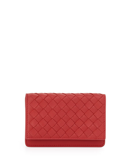 5/6 Credit Card Flip Case, Fraise Dark Red