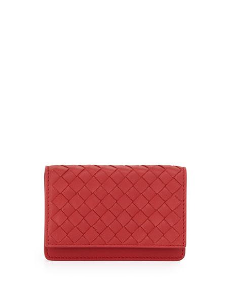 5/6 Credit Card Flip Case, Fraise Dark Red