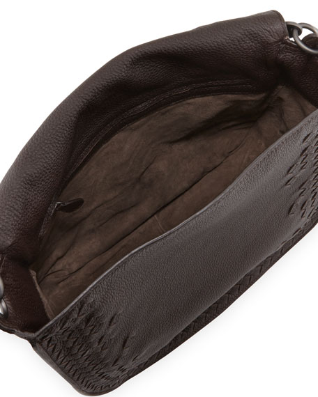 Cervo Medium Flap Bag, Espresso Dark Brown