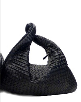Bottega Veneta Veneta Large Waves Sac Hobo, Dark Navy
