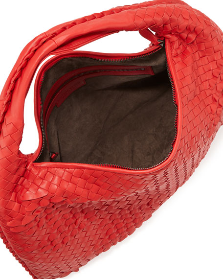 Veneta Waves Sac Hobo, New Bright Red