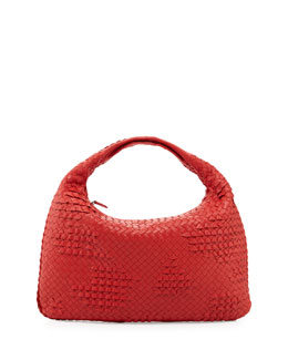 Bottega Veneta Veneta Large Waves Sac Hobo, New Bright Red