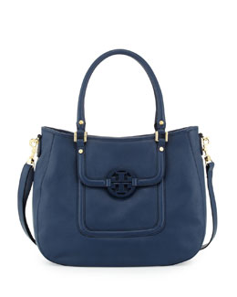 Tory Burch Amanda Classic Hobo Bag, Night Sky