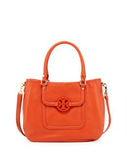 Tory Burch Amanda Classic Hobo Bag, Blood Orange