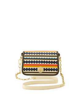 Tory Burch Robinson Zigzag Striped Crossbody Bag