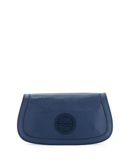 Amanda Logo Clutch Bag, Night Sky