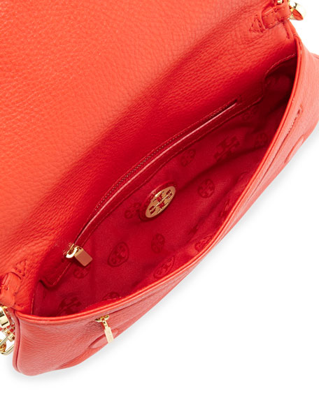 Amanda Logo Clutch Bag, Blood Orange