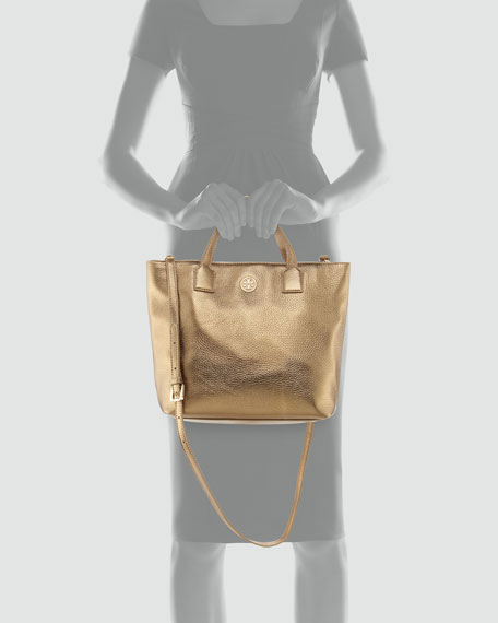 Emmy Crossbody Tote Bag, Gold