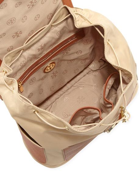 Penn Nylon & Leather Backpack, Camel