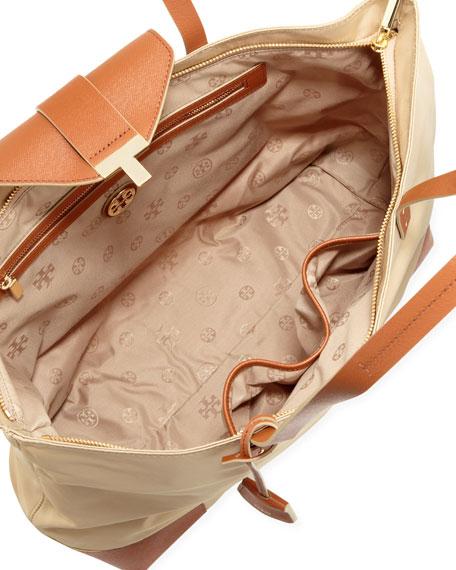 Penn Zip-Top Tote Bag, Mid Camel