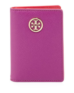 Tory Burch Robinson Transit Pass Holder, Fuchsia-Orange
