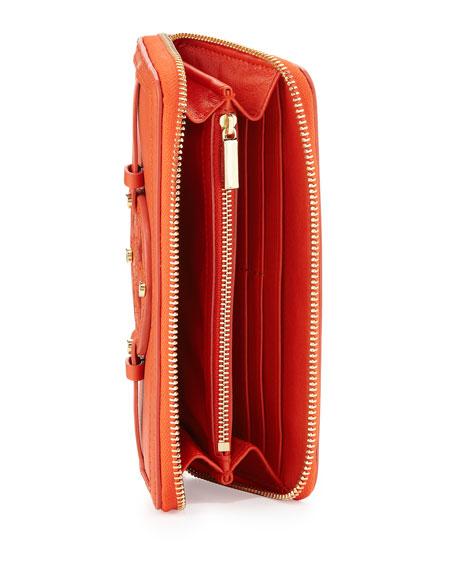 Holly Continental Zip Wallet, Blood Orange
