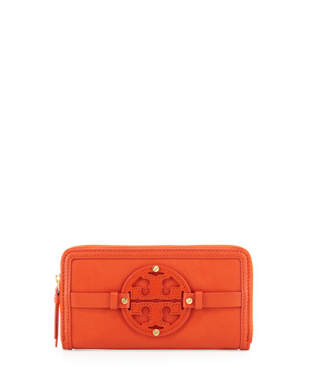 Holly Continental Zip Wallet, Blood Orange