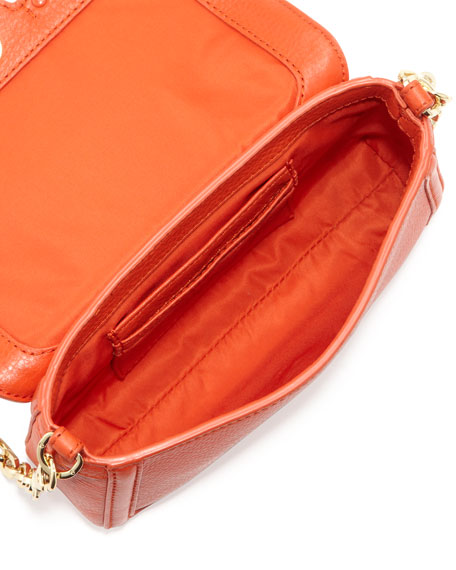 Amanda Mini Crossbody Bag, Blood Orange