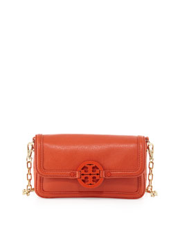 Tory Burch Amanda Mini Crossbody Bag, Blood Orange