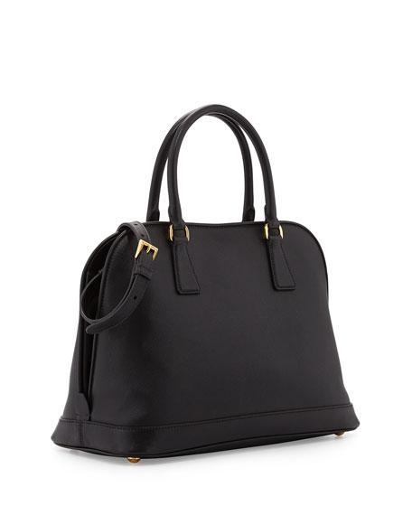 Saffiano Medium North-South Double-Handle Open Tote Bag, Black (Nero)