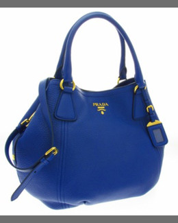 Prada Vitello Daino Tote Bag, Dark Royal (Inchiostro)