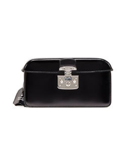 Gucci Small Patent Cap-Top Lock Clutch, Black